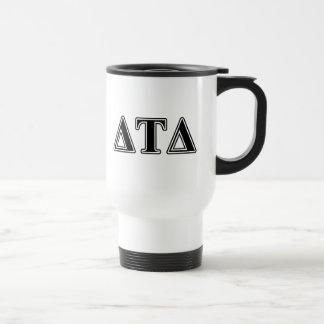 Delta Tau Delta Black Letters Mugs