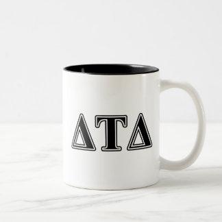 Delta Tau Delta Black Letters Coffee Mugs
