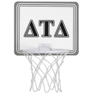 Delta Tau Delta Black Letters Mini Basketball Hoop