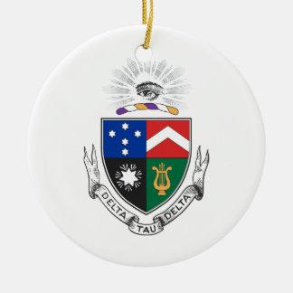 Delta Tau Delta Coat of Arms Round Ceramic Decoration