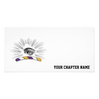 Delta Tau Delta Eye Personalized Photo Card