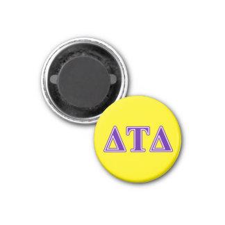 Delta Tau Delta Purple Letters Fridge Magnet