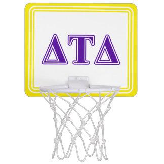 Delta Tau Delta Purple Letters Mini Basketball Hoop