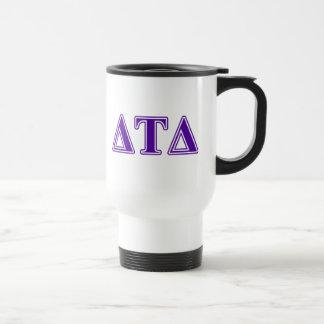 Delta Tau Delta Purple Letters Mugs