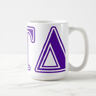 Delta Tau Delta Purple Letters Coffee Mug