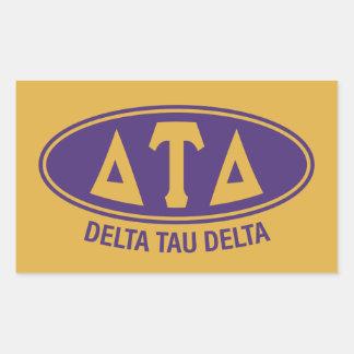 Delta Tau Delta | Vintage Rectangular Sticker