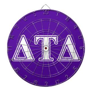 Delta Tau Delta White and Purple Letters Dart Board
