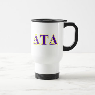 Delta Tau Delta Yellow and Purple Letters Mug