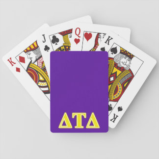 Delta Tau Delta Yellow Letters Deck Of Cards