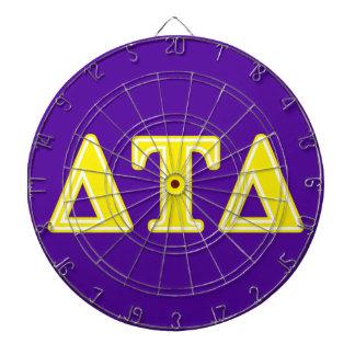 Delta Tau Delta Yellow Letters Dartboards