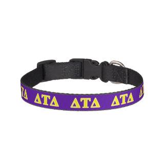 Delta Tau Delta Yellow Letters Dog Collar