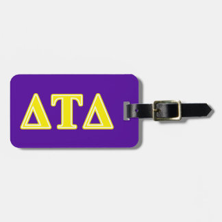 Delta Tau Delta Yellow Letters Tags For Bags