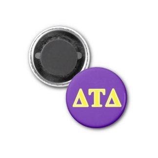 Delta Tau Delta Yellow Letters Fridge Magnets