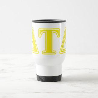 Delta Tau Delta Yellow Letters Mugs