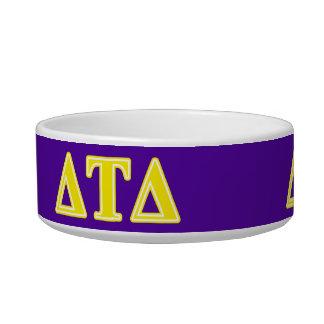 Delta Tau Delta Yellow Letters Pet Food Bowl