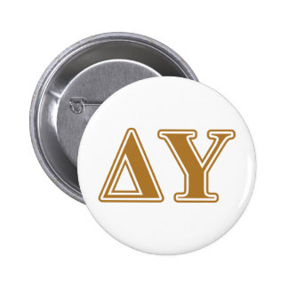Delta Upsilon Gold Letters 6 Cm Round Badge