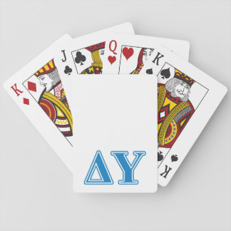 Delta Upsilon Sapphire Blue Letters Playing Cards