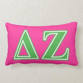 Delta Zeta Green Letters Lumbar Cushion