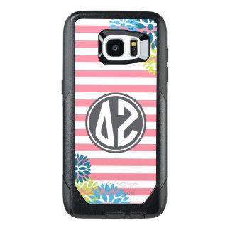 Delta Zeta | Monogram Stripe Pattern OtterBox Samsung Galaxy S7 Edge Case
