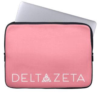 Delta Zeta Primary Logo White Laptop Sleeve