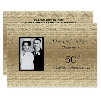 Deluxe 50th Wedding Anniversary Photo Invitation