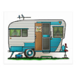 Deluxe Camper Trailer Post Card