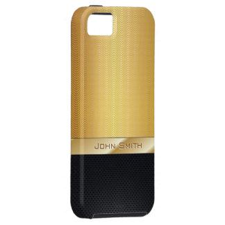 Deluxe Gold Wave Metallic Texture iPhone 5 Case