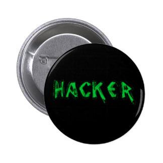 Deluxe Hacker rough font 6 Cm Round Badge