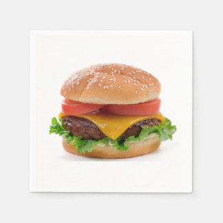"""Deluxe Hamburger"" design paper napkins"