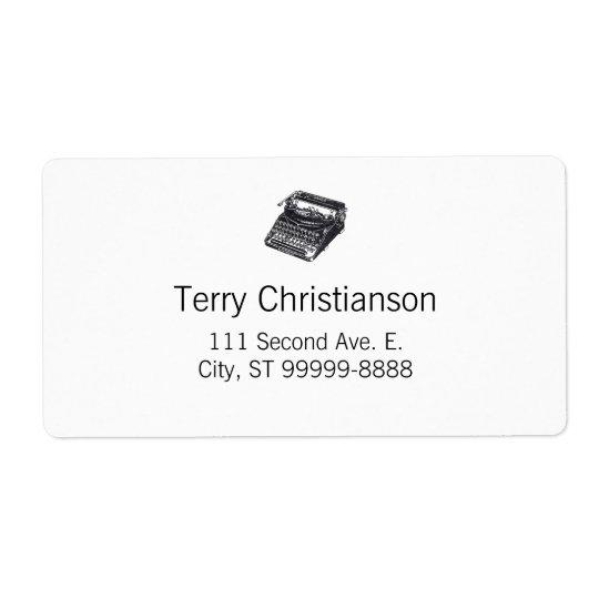 Deluxe Noiseless Retro Typewriter Shipping Label