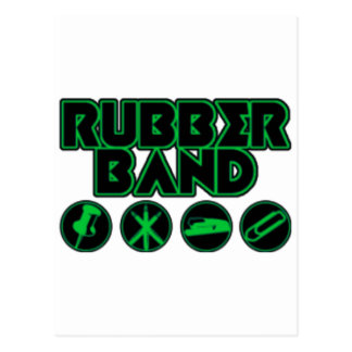 Deluxe Rubber Band Parody Logo Postcard