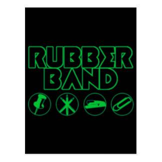 Deluxe Rubber Band Parody Logo Postcard