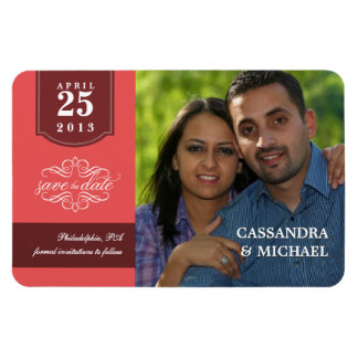 Deluxe Save the Date Custom Photo Wedding Magnets Vinyl Magnet
