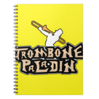 Deluxe Trombone Paladin Logo Note Book