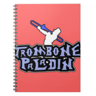 Deluxe Trombone Paladin Logo Spiral Note Book