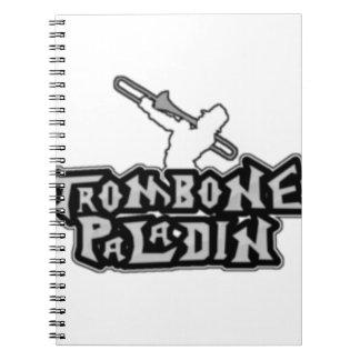 Deluxe Trombone Paladin Logo Spiral Notebook