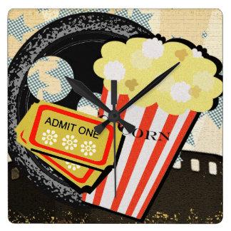 Deluxe Vibrant Film Buff Theater Motif - Clocks