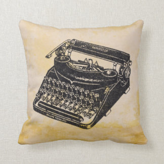 Deluxe Vintage Noiseless Typewriter Distressed Cushion