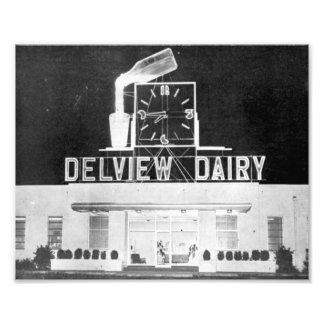 Delview Dairy at Night Photo Print
