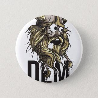 Dem buttocks beard animal 6 cm round badge
