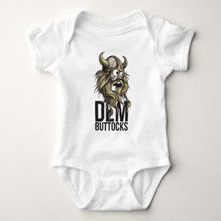 Dem buttocks beard animal baby bodysuit