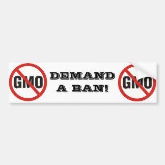 Demand a ban bumper sticker