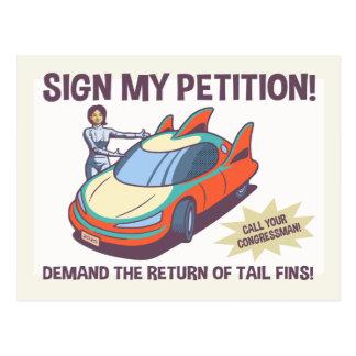 Demand Fins! Postcard
