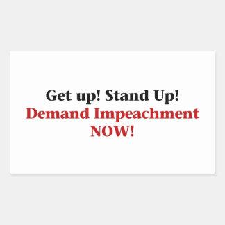 Demand Impeachment Now Rectangular Sticker