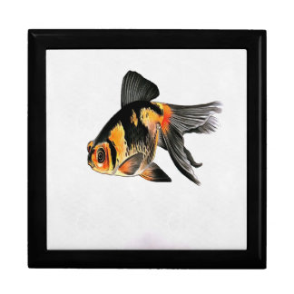 Demekin Goldfish Isolated Large Square Gift Box
