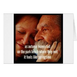 Dementia Journey Card: As Autumn Leaves Fall Card