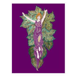 Demeter mother-goddess postcard