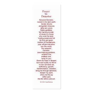 Demeter Prayer Card Business Card Template
