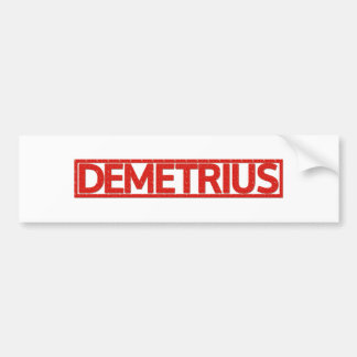 Demetrius Stamp Bumper Sticker