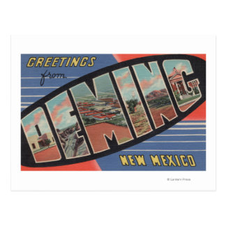 Deming, New Mexico - Large Letter Scenes Postcard
